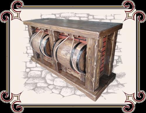 Барные стойки на заказ, Оригинальная деревянная барная стойка