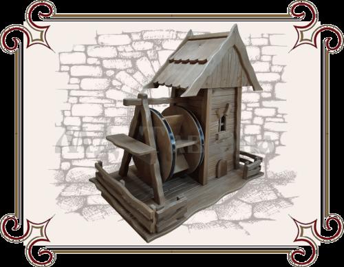 Водяная мельница для сада