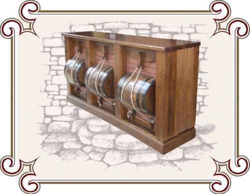 Оригинальная деревянная барная стойка