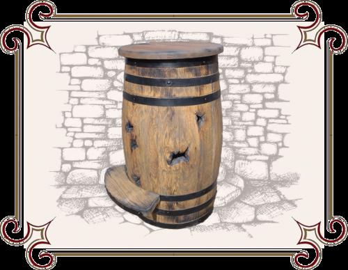 Барный стул бочка, Бочка табурет, табурет в виде бочки, Табурет из деревянной бочки.