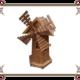 Деревянная мельница для дачи