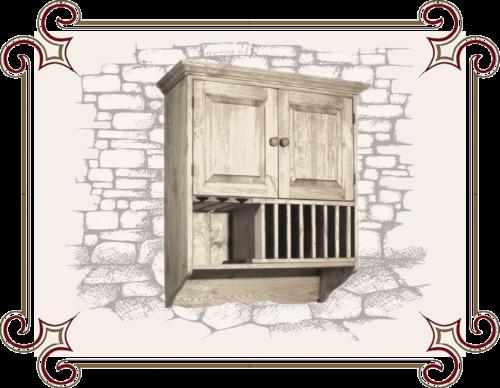 Шкаф навесной в стиле Кантри