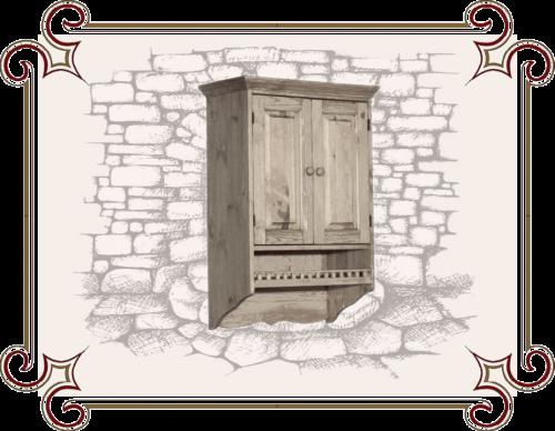 Навесной шкаф Кантри