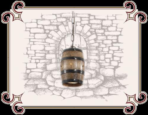 Светильник в виде бочки, Светильник из деревянной бочки, люстра бочка, бочка бра