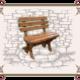 Скамейка деревянная Дачная