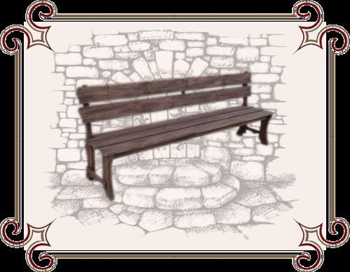 Скамейка из дерева Старый сад