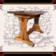 Деревянный стол для бара