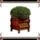 Деревянные кашпо для сада
