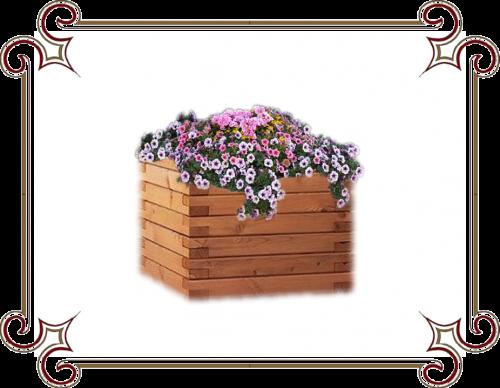 кашпо деревянное напольное