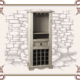 Стеллаж для хранения вина в стиле Кантри