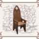 кресло в готическом стиле