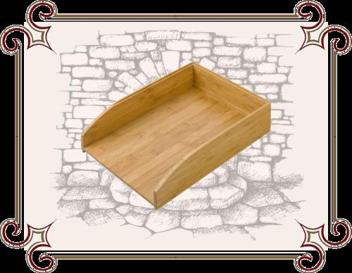 Лоток для документов деревянный
