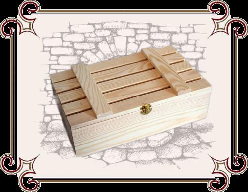 Деревянный ящик для подарка