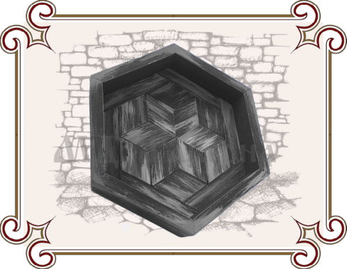 Поднос шестиугольный