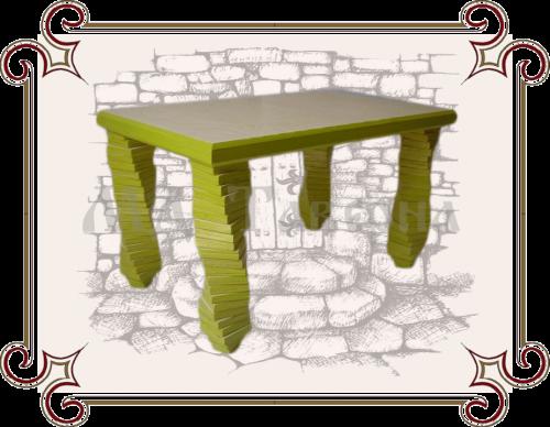 Стол зеленый