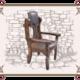Кресло под старину с кожаной спинкой