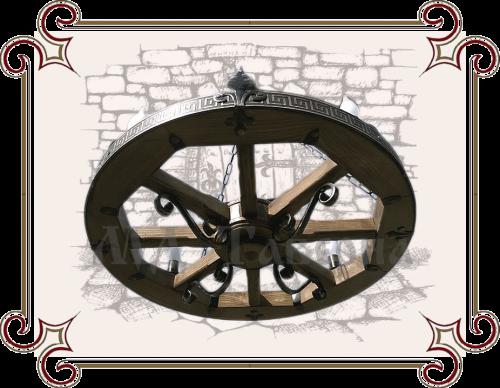 Люстра колесо от телеги