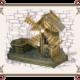 Декоративная мельница с клумбой