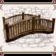Декоративный деревянный мостик