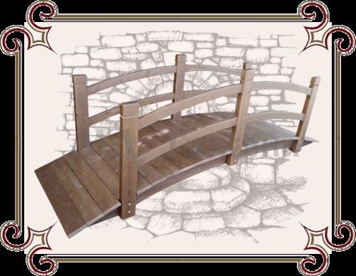 Мостик для декора дачного участка
