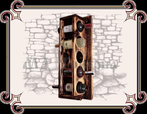 Полки декоративные, Полки для бутылок, Полка винная вертикальная