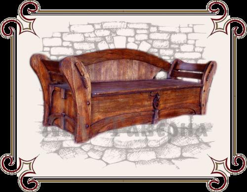 Сундук-скамья под старину