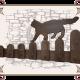 Декоративная вешалка с кошкой