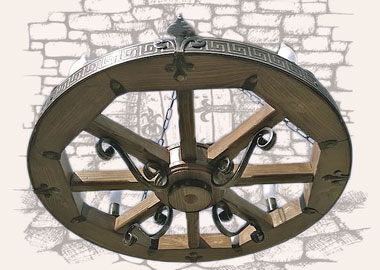 Люстра колесо купить