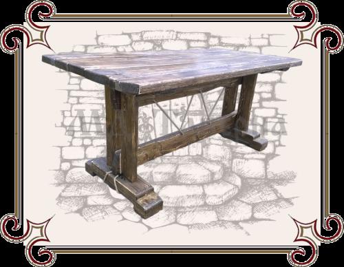 Столы и лавки под старину