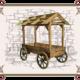 деревянная телега для торговли