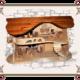 декоративный деревянный домик