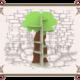 Детский стеллаж деревянный