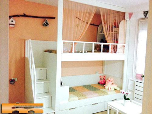 Кровать-чердак из дерева