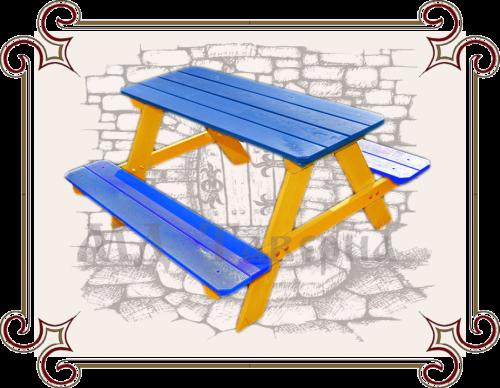 Стол с лавочкой для дачи