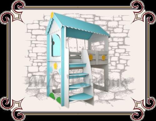 Кровать-чердак Домик