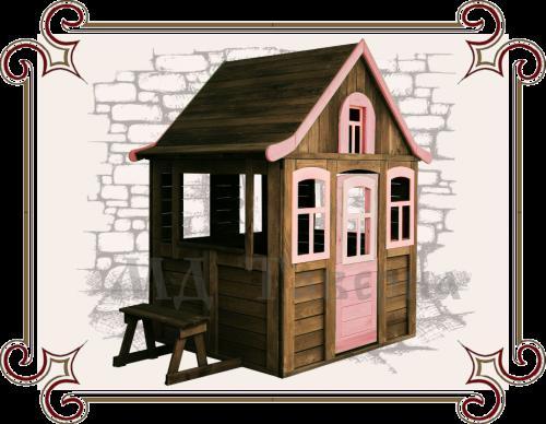 Детский домик с лавочкой