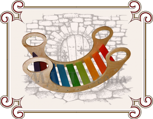 Деревянная качалка Радуга