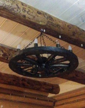 Люстра колесо телеги