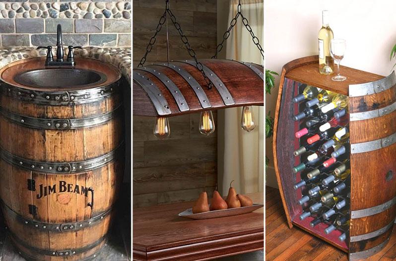 муляжи бочке для кафе, муляж бочки, декоративные бочки, деревянные бочки для декор