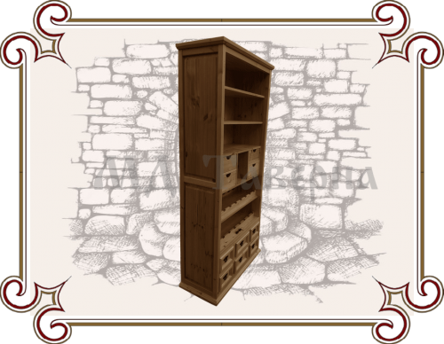 Шкаф для бутылок вина, шкаф для алкоголя, винный шкаф кантри стиль, шкаф в кантри стиле, деревянный шкаф для вина