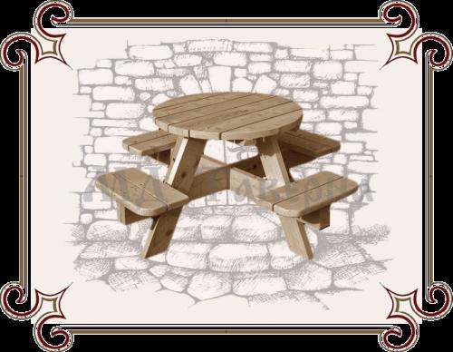 садовые скамейки со столом