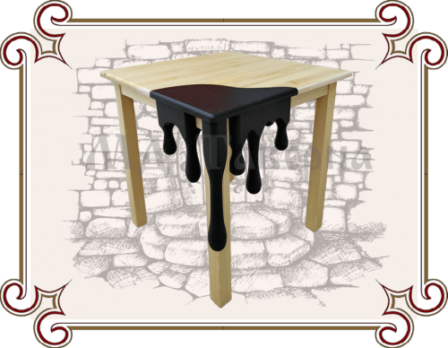 Деревянный игровой стол для детей