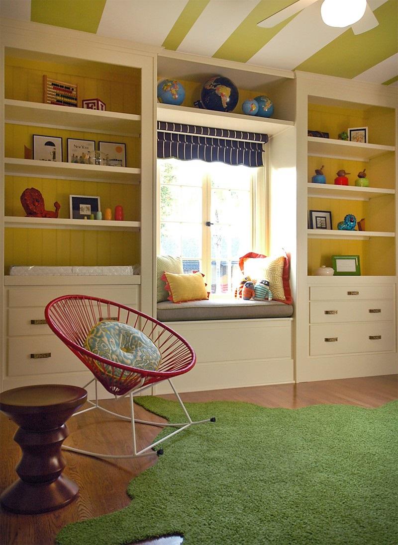 стеллаж для игрушек в детскую комнату