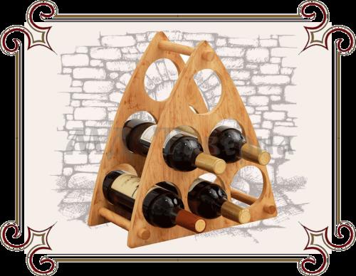 подставка для бутылок вина из дерева