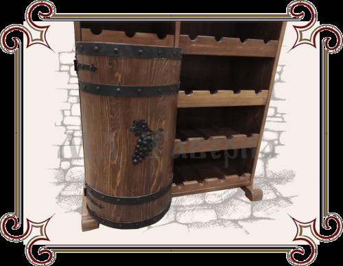 тумба бочка, каванный элемент виноград, металлический элемент для мебели