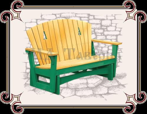 скамейка с высокой спинкой