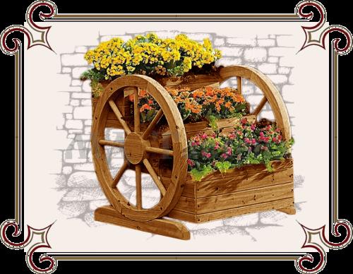 Цветочница из колеса