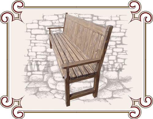 Скамейка уличная деревянная