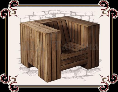 Кресло дачное в стиле лофт