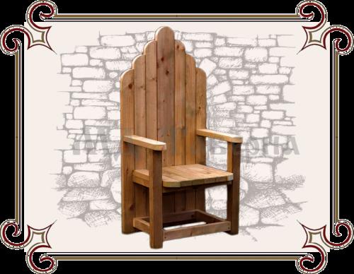 Кресло трон из массива
